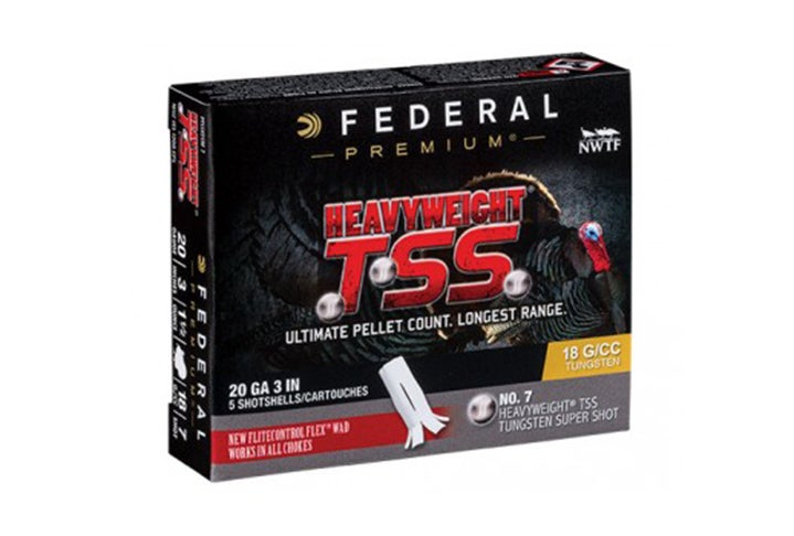 Federal Heaveyweight TSS 20-gauge shells are available loaded with #7 and #9 shot.