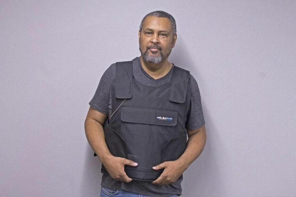 Kevin Willmott, University of Kansas professor of film and media studies, wore a bulletproof vest to class this week in protest of the state's new campus carry laws.