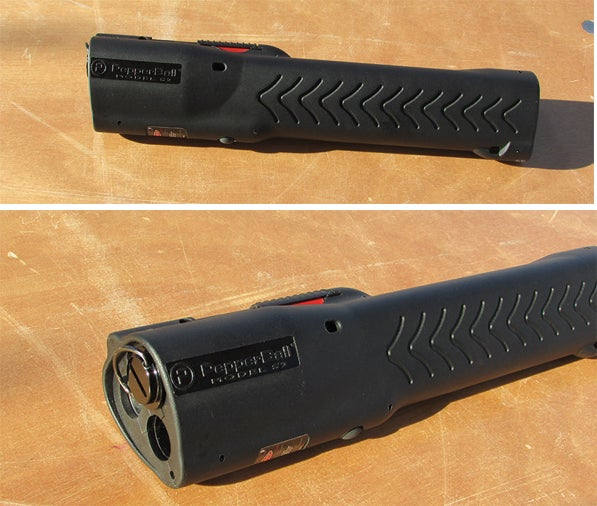 The new PepperBall FlashLauncher is a flashlight and a home defense tool in one.