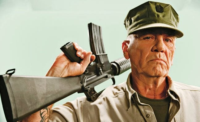 R. Lee Ermey died on April 15, 2018 at the age of 74.