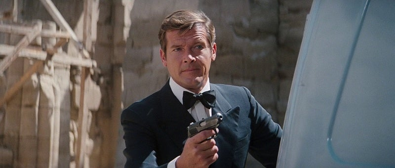Bond with his Walther PPK in *The Spy Who Loved Me*.