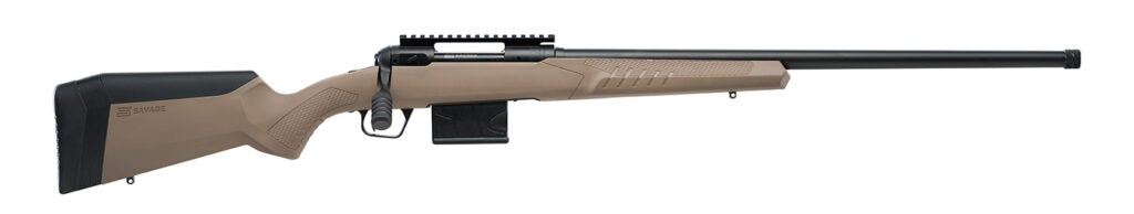 The Savage 110 Tactical Desert rifle.