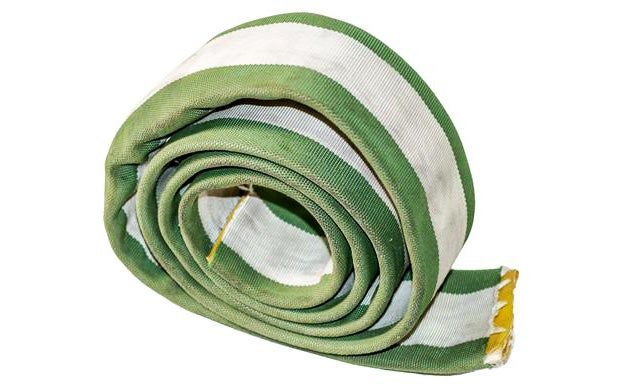 It's surprisingly easy to find surplus fire hose, as firehouses have to change out their hoses regularly. People use surplus hose like this for all sorts of things like dock bumpers and, of course, ta