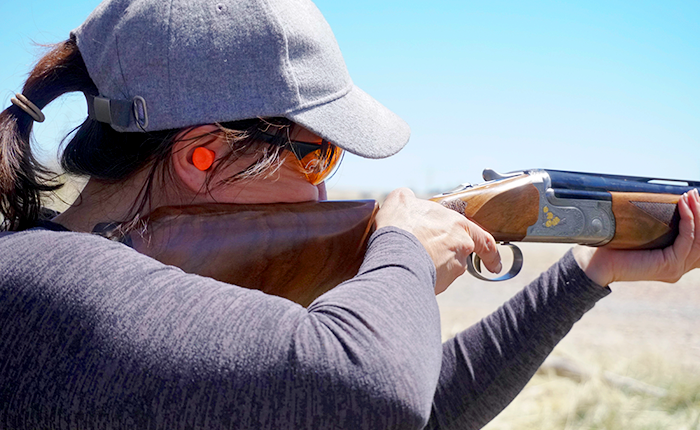 The stock of Syren shotguns, designed for the female frame, help to mount the gun to your face properly and clearly see down the barrel while shooting. This makes it easier to find the target at the i