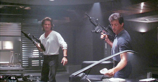 Tango and Cash (Kurt Rusell) with highly modified Heckler & Koch MP5A4 submachine guns.