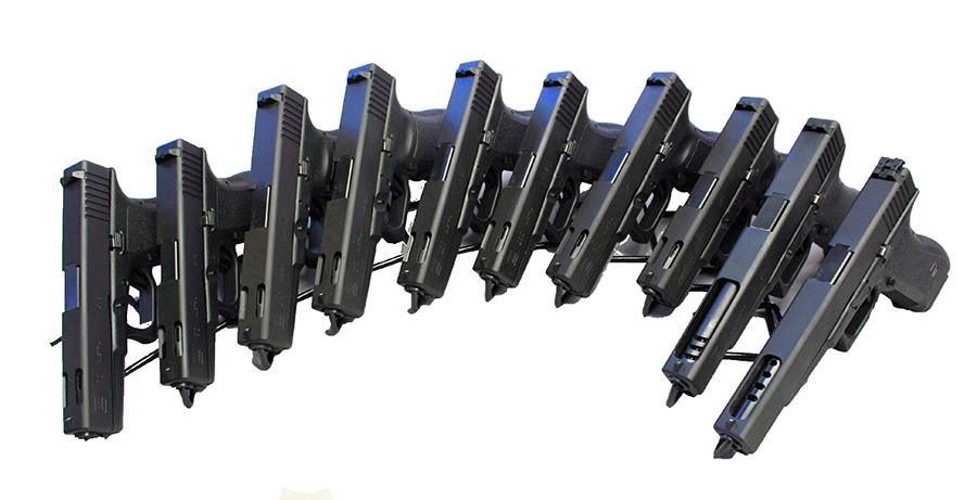 At one time posted and compensated pistols were popular with in the Glock line. Here are a number of models and calibers with ported barrels and slides.