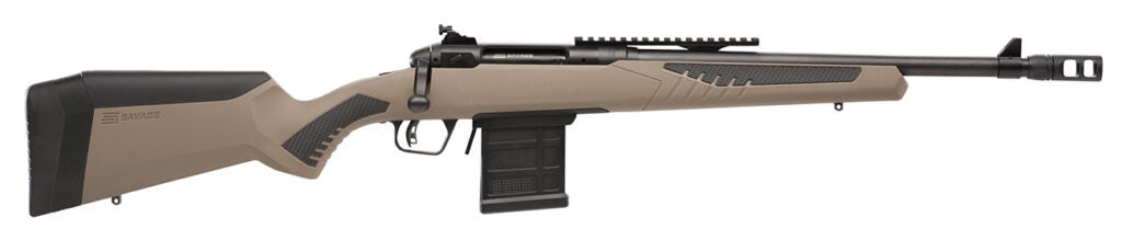 The Savage 110 Scout rifle.
