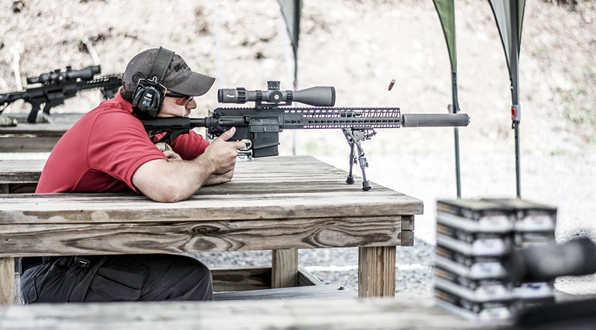 The author had the option to do a full day in pistol, carbine, or long-range precision shooting.