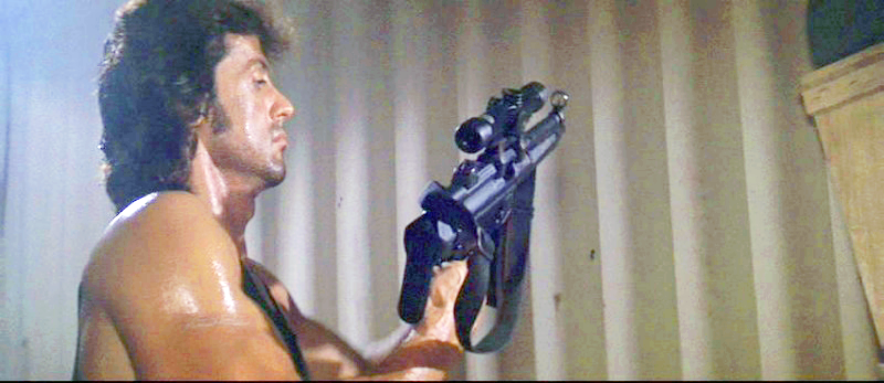 Rambo readies his MP5A3 while prepping for his jungle insertion.