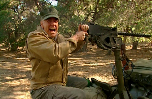 Gunny got to shoot a lot of cool firearms on *Mail Call*, like this Browning M1919A4.