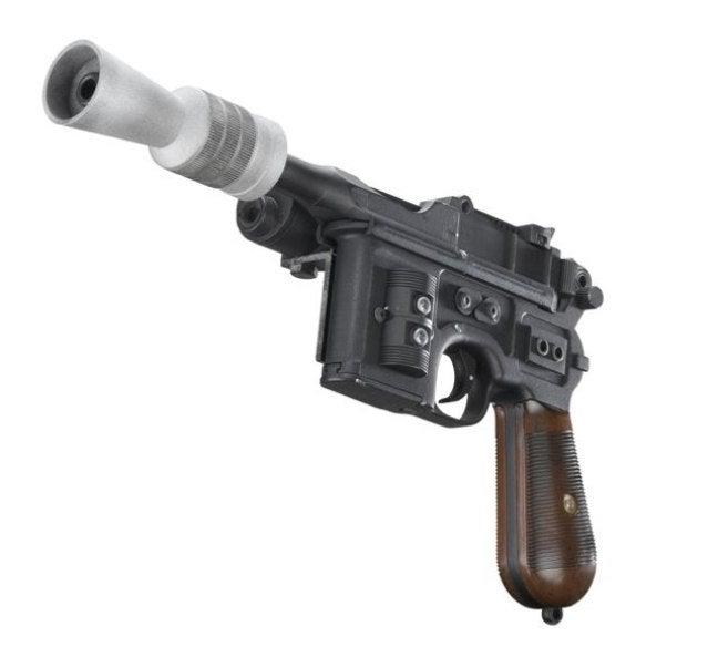 In *Solo: A Star Wars Story* we see Han begin to carry his trademark DL-44 blaster pistol.
