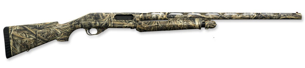 The Benelli Nova Compact Field Shotgun with a camo finish.