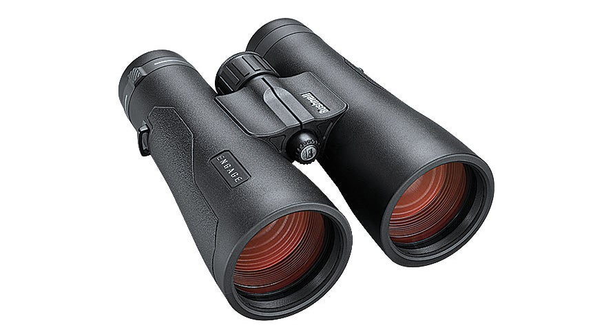 The Bushnell engage 12x-50mm binoculars are a good choice for the range.