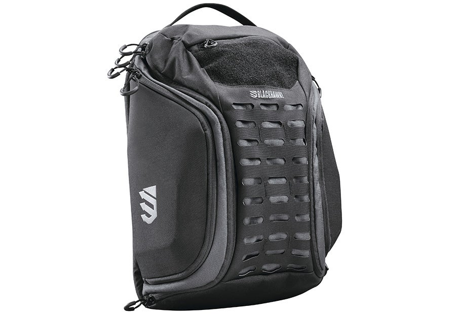 The Blackhawk! Stingray backpack in black and gray.