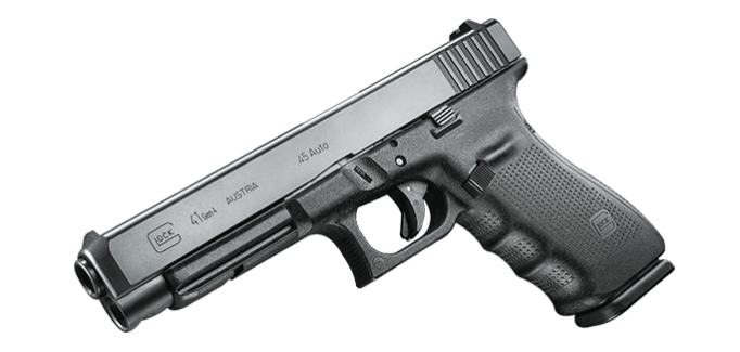 A Glock G41 chambered in .45 ACP.