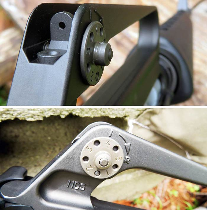 brownell retro XM16e1's rear sight and dial