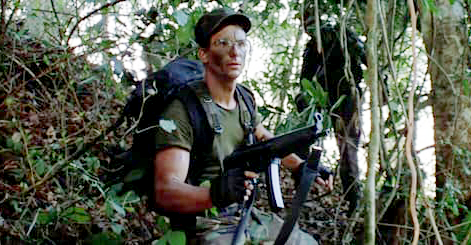 Hawkins didn't get many lines, but he got to tell some crude jokes and is the first of the team to be stalked by the Predator.