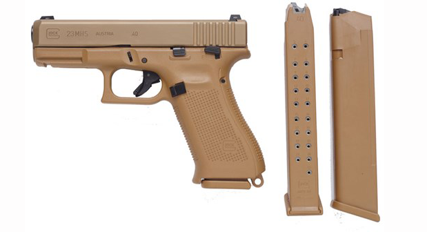 The G19 MHS submission pictured with extended magazines.
