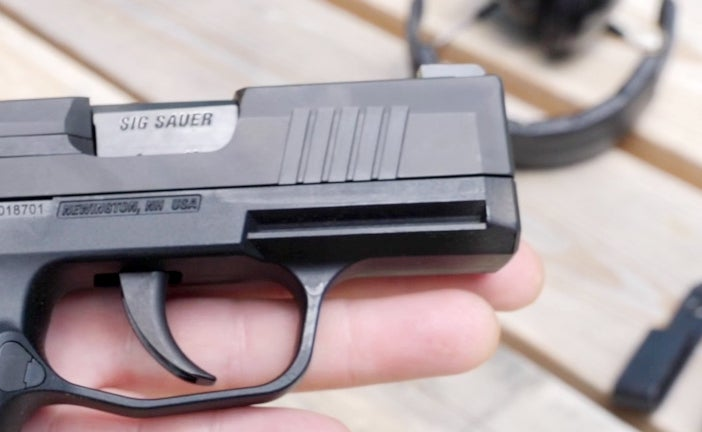 The P365 has a proprietary accessory rail and SIG sells a laser and gun light for the handgun.