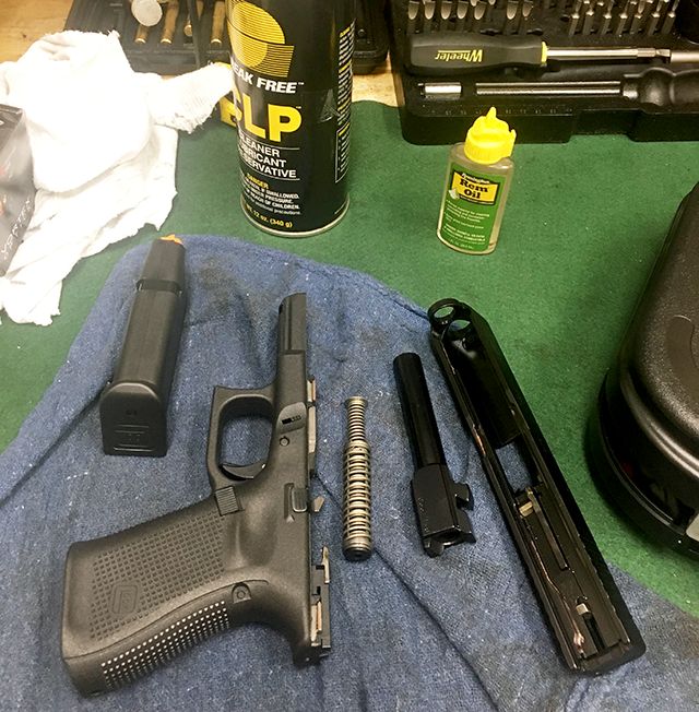 Disassembly of the new G19 is no different than the procedure for other Glock pistols.