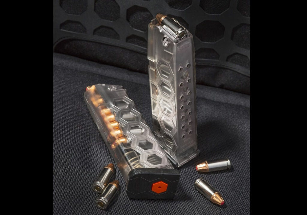 The new Hexmags have a 17-round capacity and accept Glock 17 basepads and extenders.