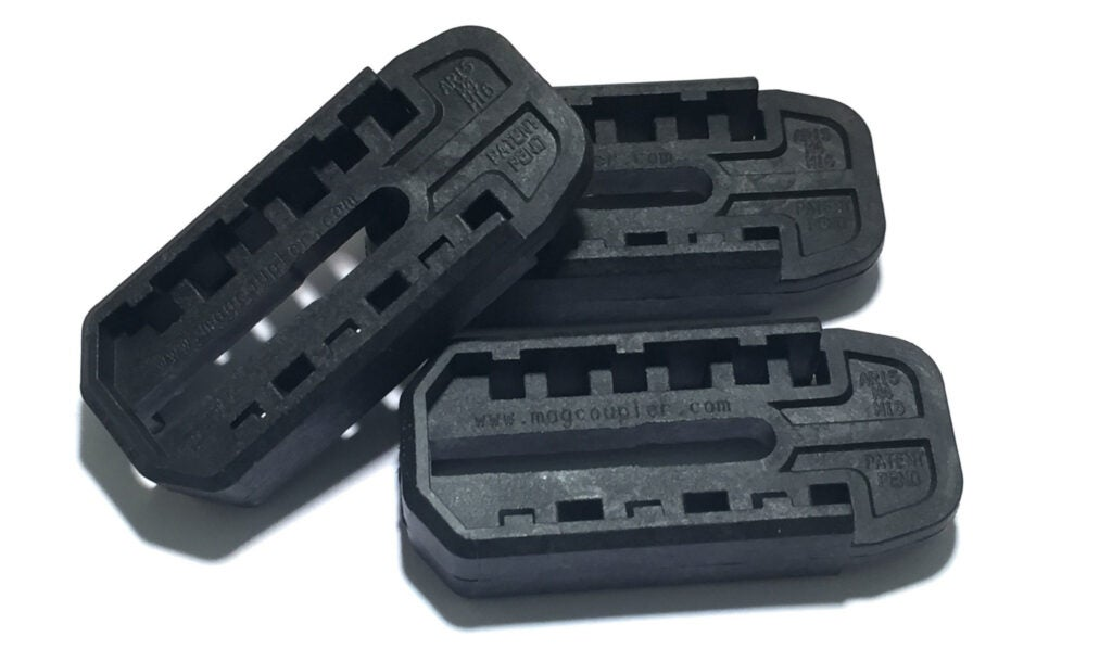 The couplers for AR-15 rifles fit factory MAGPUL PMAGS GEN3 mags.