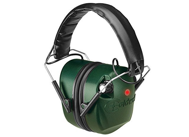 The Caldwell E-MAX Electronic Earmuffs let you hear what you need to but block out those harmful loud noises.