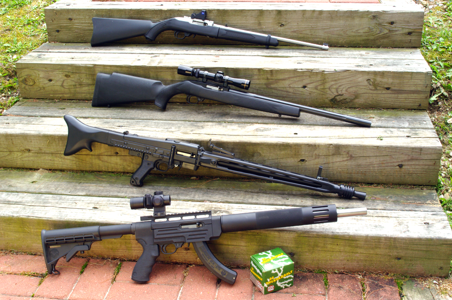 Various Ruger 10/22 rifles