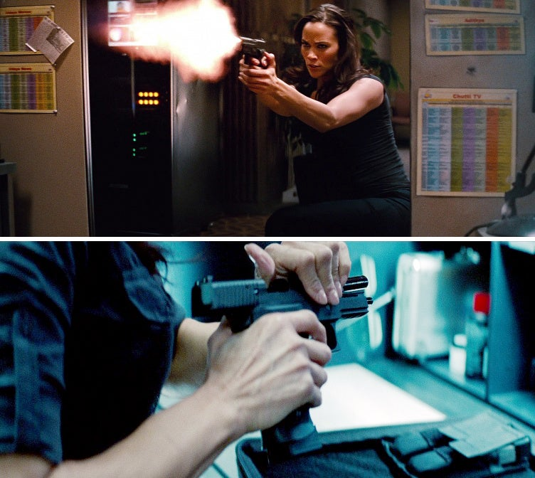 Agent Jane Carter (Paula Patton) carries a SIG-Sauer P226 SCT in the movie, but also uses a Makarov.