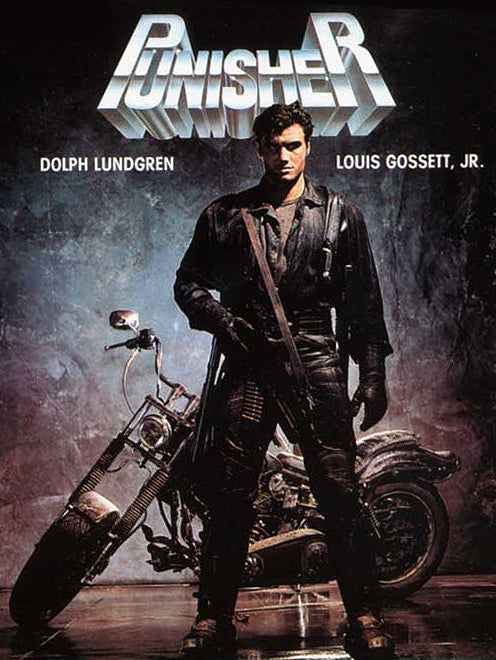Lundgren as The Punisher on the VHS cover most prominent in the U.S.