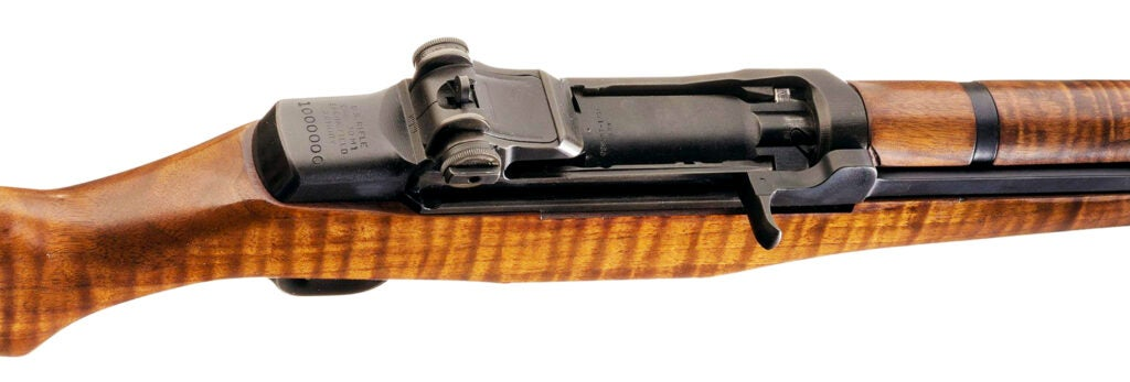 Another look at the receiver of John Garand's M1 Garand rifle.