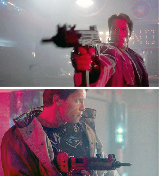 The T-800 with the full-auto Uzi.