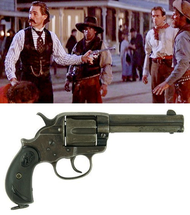 In one scene, Wyatt uses a Colt 1878 Double-Action revolver.