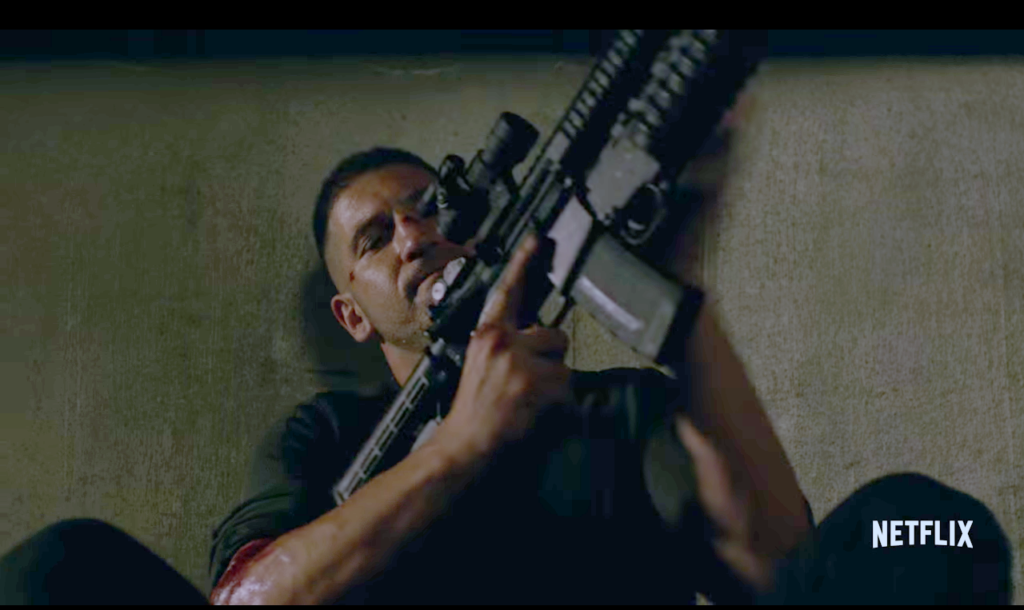 Castle with his M4.
