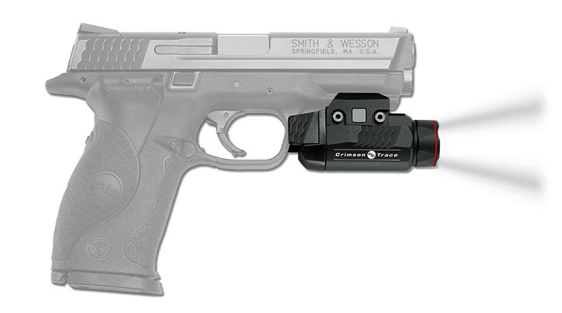 The Crimson Trace CMR-208 Rail Master is ideal for a pistol, but can mount on any firearm with a Picatinny rail.