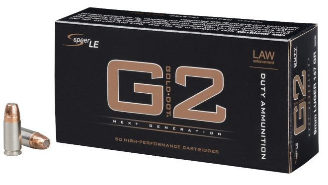 This Speer Gold Dot G2 9mm ammunition is used by the FBI.