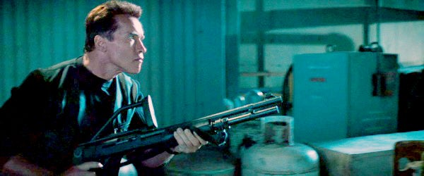 Kruger heads to the docks with a Benelli M3 Super 90 shotgun.