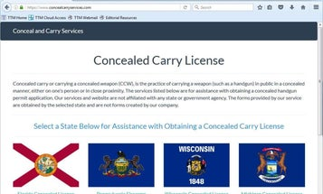 WARNING: Website Offering Fake Concealed Carry Permits