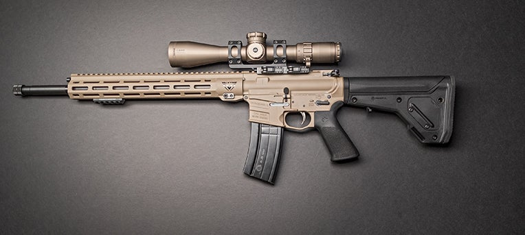 A left-side profile of the Savage MSR 15 Valkyrie, expected to hit stores in January.