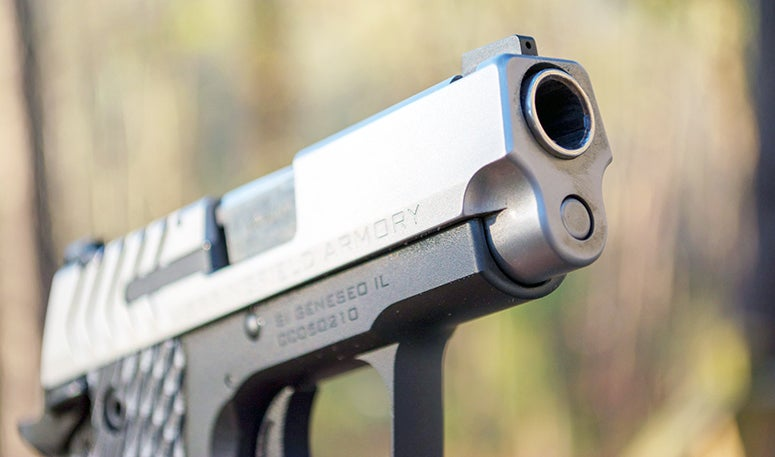 The author found the pistol easy to handle, even with normally snappy defensive ammo.