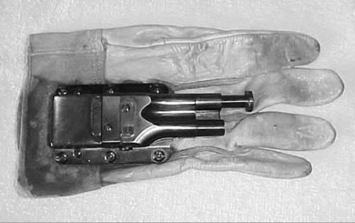 The Pistol Glove has a plunger as a trigger and is used by punching an enemy.