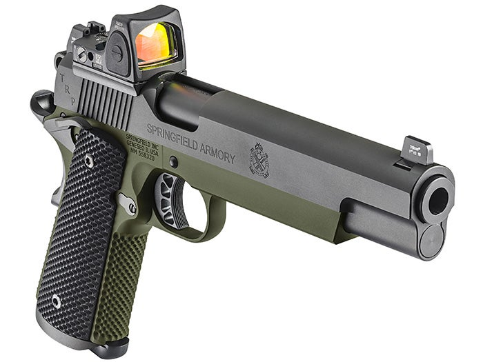 Springfield Debuts TRP 10mm 1911s with Trijicon Reflex Sights