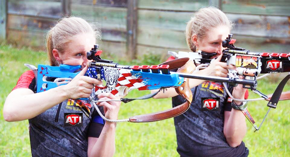 Identical twin Olympic biathletes Tracy and Lanny Barnes.