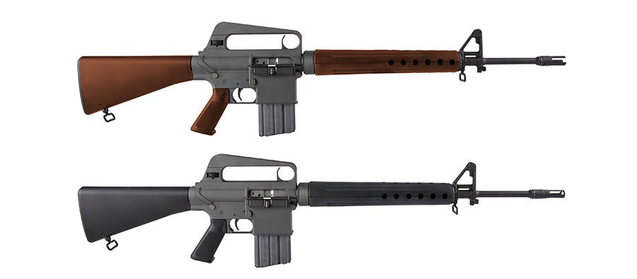 The BRN-10A1 and the BRN-10A are based on Eugene Stoner's original AR-10 from the 1950s.