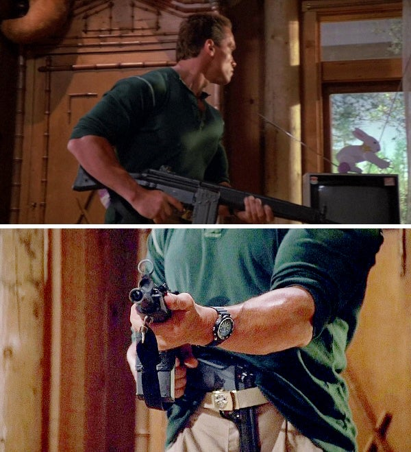 Matrix also grabs a HK91A2 from his shed armory.