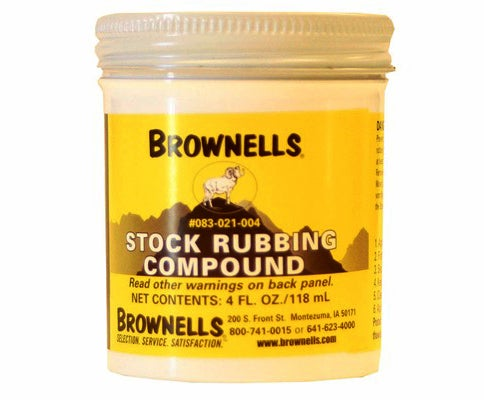 Brownells Stock Rubbing Compound keeps your wood in good shape.