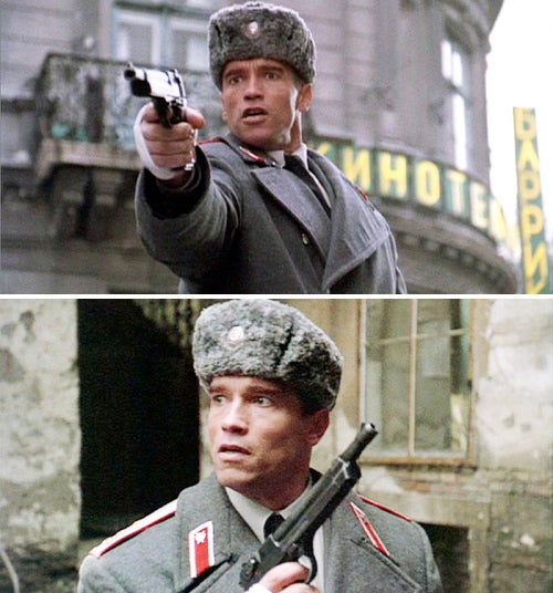 More shots of Danko with the Podbyrin 9.2mm pistol in Moscow.