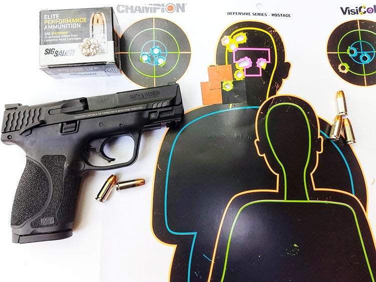 sig sauer ammo and smith and wesson mp9 compact handgun