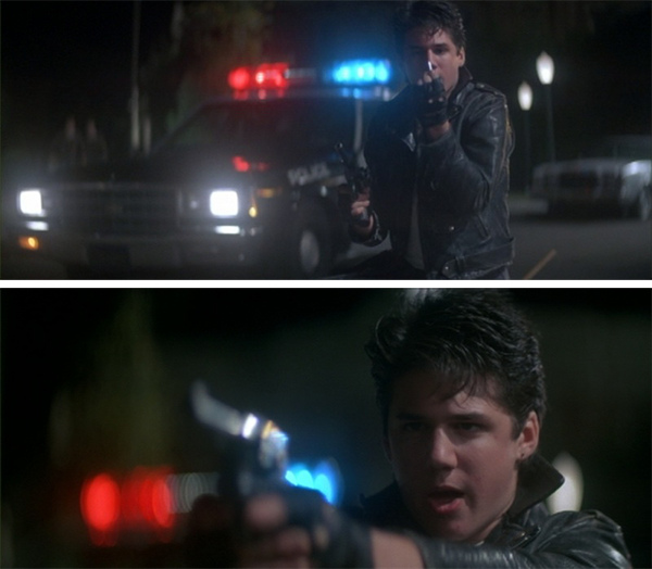 Rudy later uses a fallen police officer's Model 15 paired with a silver bullet he made from melted spoons to finally kill the Wolfman.