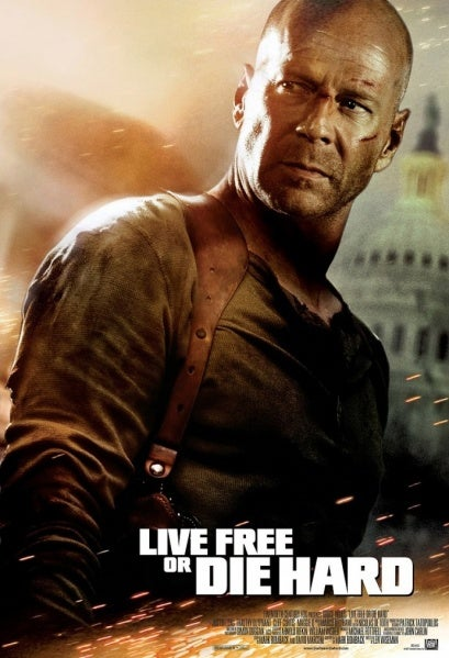 The poster for *Live Free or Die Hard*.